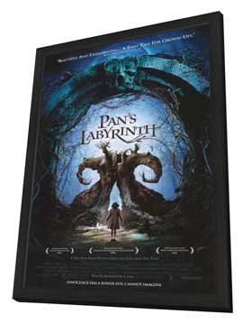 Pan's Labyrinth - 11 x 17 Movie Poster - Style D - in Deluxe Wood Frame