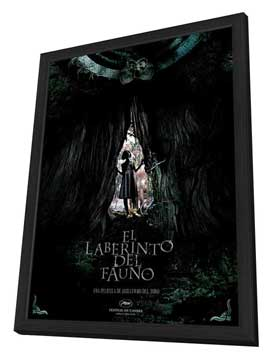 Pan's Labyrinth - 11 x 17 Movie Poster - Spanish Style C - in Deluxe Wood Frame