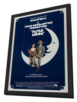 Paper Moon - 11 x 17 Movie Poster - Style B - in Deluxe Wood Frame