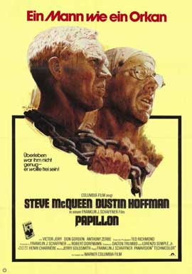 Papillon - 11 x 17 Movie Poster - German Style A