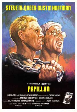 Papillon - 27 x 40 Movie Poster - Spanish Style B