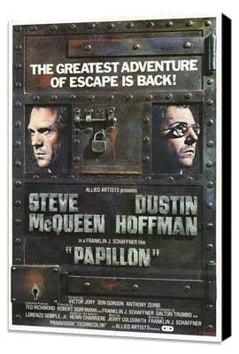 Papillon - 27 x 40 Movie Poster - Style B - Museum Wrapped Canvas