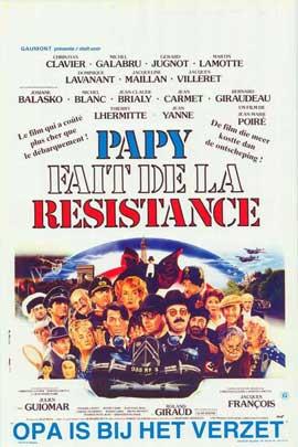 Papy fait de la r�sistance - 11 x 17 Movie Poster - Belgian Style A