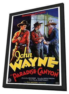 Paradise Canyon - 27 x 40 Movie Poster - Style A - in Deluxe Wood Frame