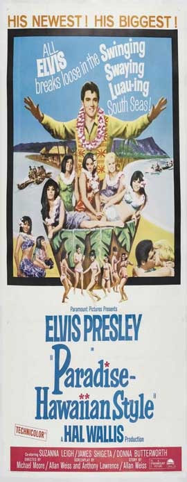Paradise, Hawaiian Style - 14 x 36 Movie Poster - Insert Style A