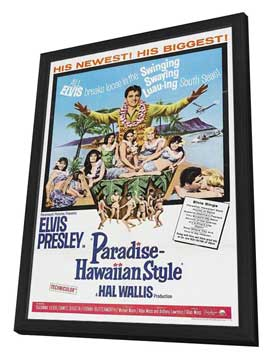 Paradise, Hawaiian Style - 11 x 17 Movie Poster - Style A - in Deluxe Wood Frame