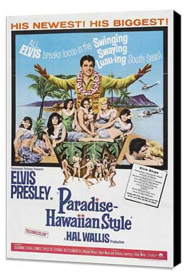 Paradise, Hawaiian Style - 11 x 17 Movie Poster - Style A - Museum Wrapped Canvas