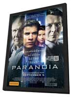 Paranoia - 11 x 17 Movie Poster - Australian Style A - in Deluxe Wood Frame