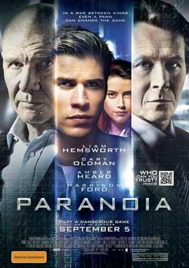 Paranoia - 11 x 17 Movie Poster - Australian Style A
