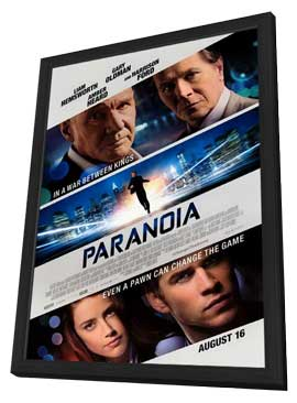 Paranoia - 27 x 40 Movie Poster - Style A - in Deluxe Wood Frame