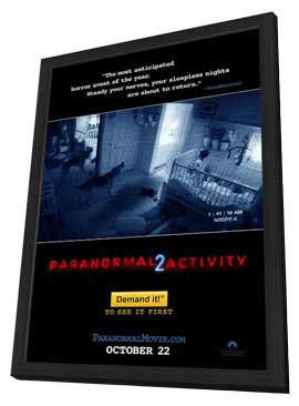 Paranormal Activity 2 - 11 x 17 Movie Poster - Style A - in Deluxe Wood Frame