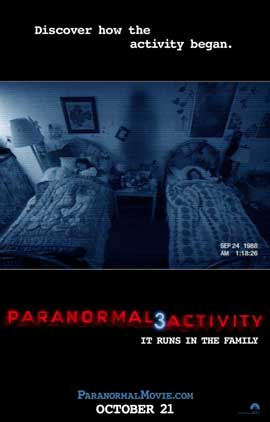 Paranormal Activity 3 - 11 x 17 Movie Poster - Style B