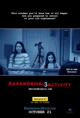 Paranormal Activity 3 - 11 x 17 Movie Poster - Style C