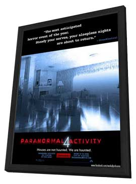 Paranormal Activity 4 - 11 x 17 Movie Poster - Style A - in Deluxe Wood Frame