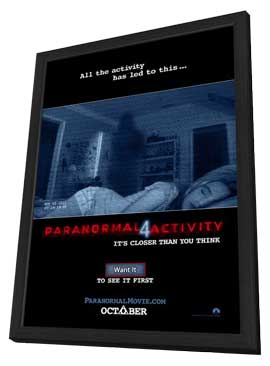 Paranormal Activity 4 - 11 x 17 Movie Poster - Style B - in Deluxe Wood Frame