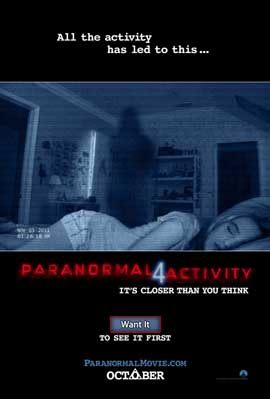 Paranormal Activity 4 - DS 1 Sheet Movie Poster - Style A