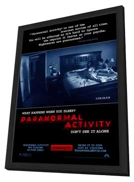 Paranormal Activity - 11 x 17 Movie Poster - Style A - in Deluxe Wood Frame