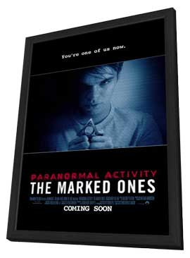 Paranormal Activity: The Marked Ones - 11 x 17 Movie Poster - Style B - in Deluxe Wood Frame