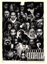 Parental Advisory Explicit Lyrics - Music Poster - 24 x 36 - Style E