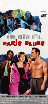 Paris Blues - 13 x 28 Movie Poster - Italian Style A