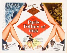Paris Follies of 1956 - 22 x 28 Movie Poster - Half Sheet Style A