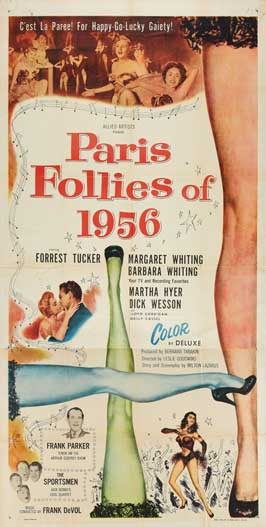 Paris Follies of 1956 - 14 x 36 Movie Poster - Insert Style A