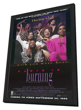 Paris Is Burning - 11 x 17 Movie Poster - Style A - in Deluxe Wood Frame