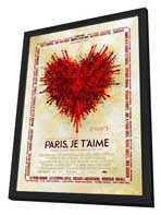 Paris Je T'aime - 11 x 17 Movie Poster - Style D - in Deluxe Wood Frame