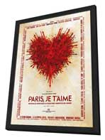 Paris Je T'aime - 27 x 40 Movie Poster - Spanish Style A - in Deluxe Wood Frame