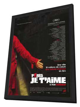 Paris Je T'aime - 27 x 40 Movie Poster - French Style A - in Deluxe Wood Frame