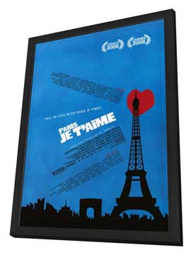 Paris Je T'aime - 27 x 40 Movie Poster - Style B - in Deluxe Wood Frame
