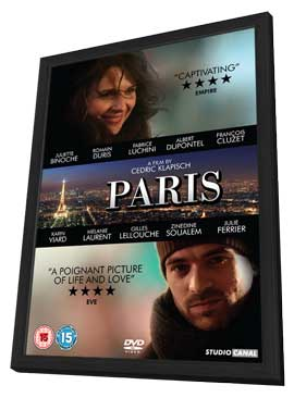 Paris - 11 x 17 Movie Poster - UK Style A - in Deluxe Wood Frame