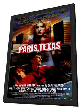 Paris, Texas - 27 x 40 Movie Poster - Belgian Style A - in Deluxe Wood Frame