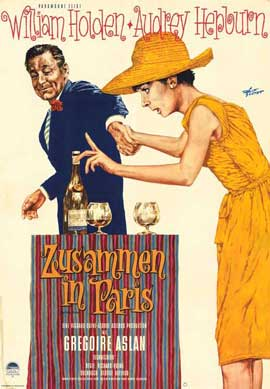 Paris When It Sizzles - 11 x 17 Movie Poster - German Style A