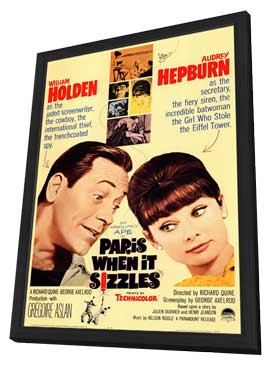 Paris When It Sizzles - 11 x 17 Movie Poster - Style A - in Deluxe Wood Frame