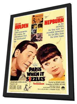 Paris When It Sizzles - 27 x 40 Movie Poster - Style A - in Deluxe Wood Frame