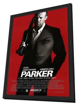 Parker - 27 x 40 Movie Poster - Style A - in Deluxe Wood Frame
