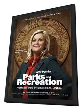 Parks and Recreation (TV) - 11 x 17 TV Poster - Style A - in Deluxe Wood Frame