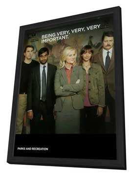 Parks and Recreation (TV) - 11 x 17 TV Poster - Style B - in Deluxe Wood Frame