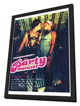 Party Monster - 27 x 40 Movie Poster - Japanese Style B - in Deluxe Wood Frame