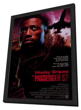 Passenger 57 - 27 x 40 Movie Poster - Style A - in Deluxe Wood Frame