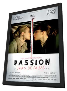Passion - 11 x 17 Movie Poster - German Style A - in Deluxe Wood Frame