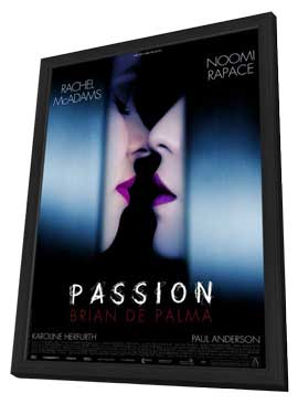Passion - 11 x 17 Movie Poster - French Style A - in Deluxe Wood Frame
