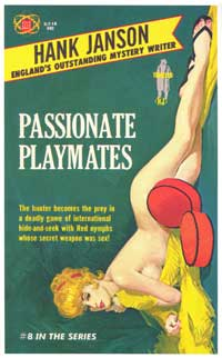 Passionate Playmates - 11 x 17 Retro Book Cover Poster