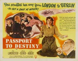Passport to Destiny - 11 x 17 Movie Poster - Style A