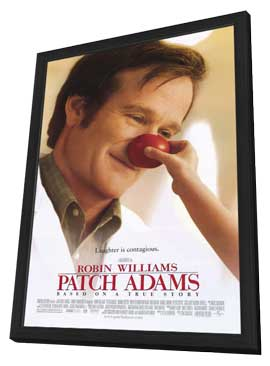 Patch Adams - 11 x 17 Movie Poster - Style A - in Deluxe Wood Frame