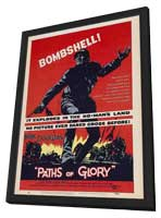 Paths of Glory - 11 x 17 Movie Poster - Style B - in Deluxe Wood Frame