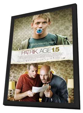 Patrik Age 1.5 - 11 x 17 Movie Poster - Style A - in Deluxe Wood Frame