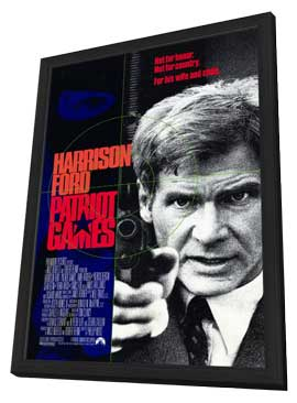 Patriot Games - 11 x 17 Movie Poster - Style A - in Deluxe Wood Frame