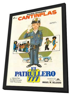 Patrullero 777, El - 11 x 17 Movie Poster - Spanish Style A - in Deluxe Wood Frame